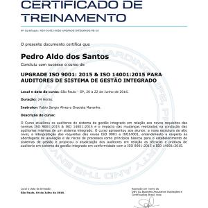 Certificado Auditoria 9001/14001 DNV