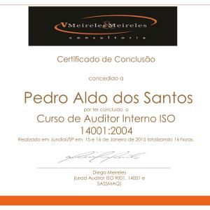 Certificado Auditor Interno ISO14001